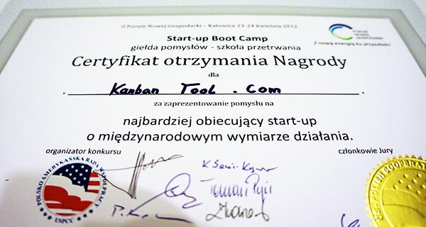 Kanban Tool Start-up Winner