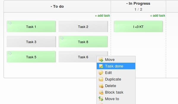 Kanban Tool Script - Task done