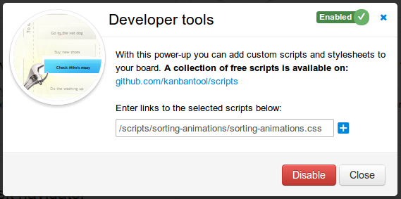 Enable sorting animations