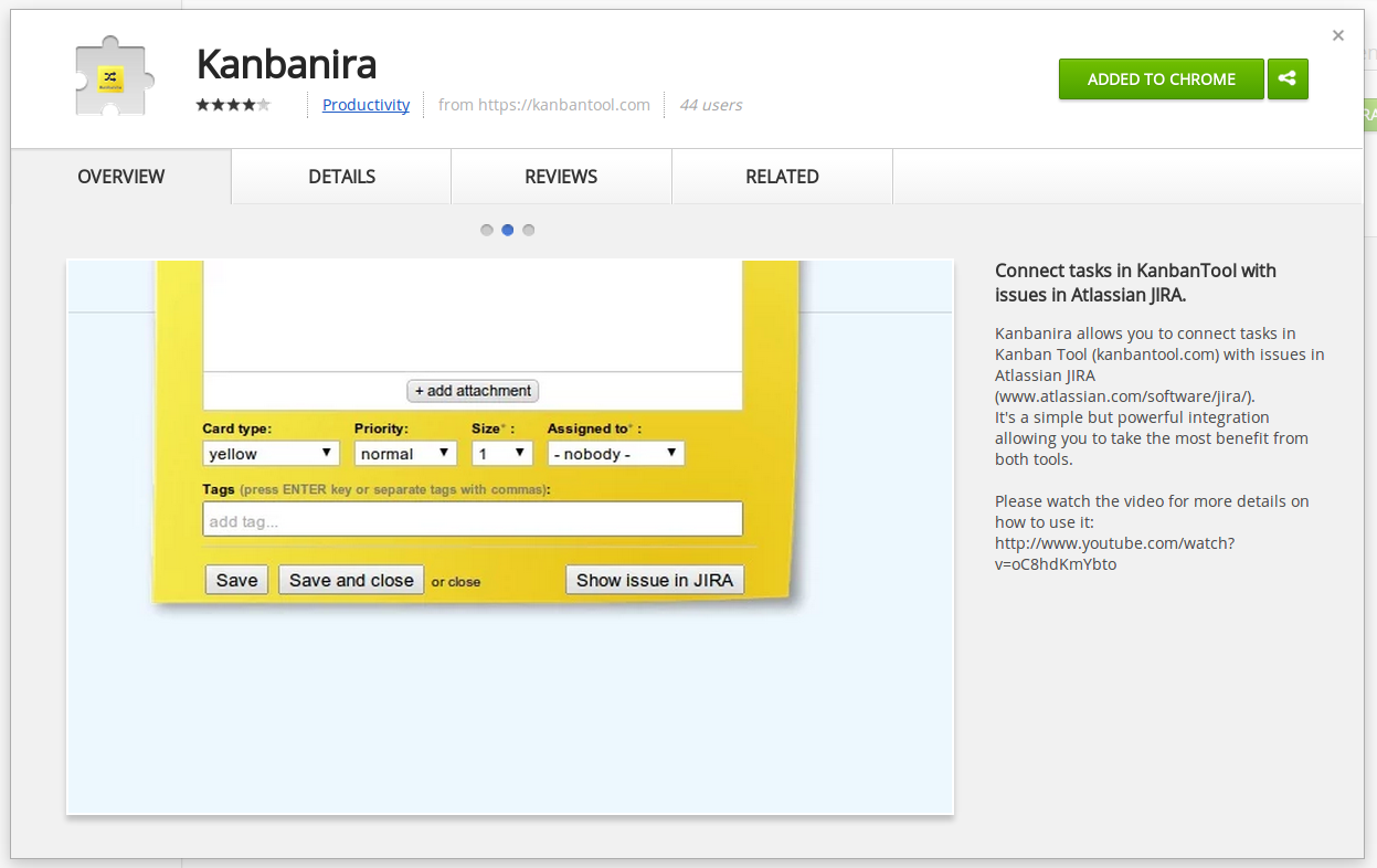 Kanbanira Chrome extension for Kanban Tool