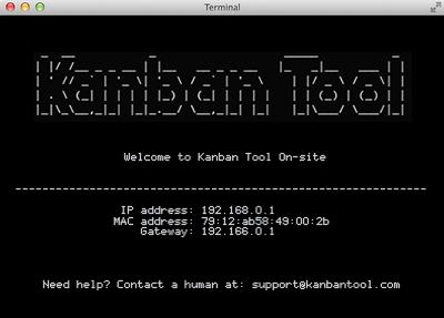 Kanban Tool On-Site - terminal