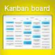 Kanban analytics and metrics icon