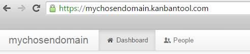 Choose a Domain Name in Kanban Tool