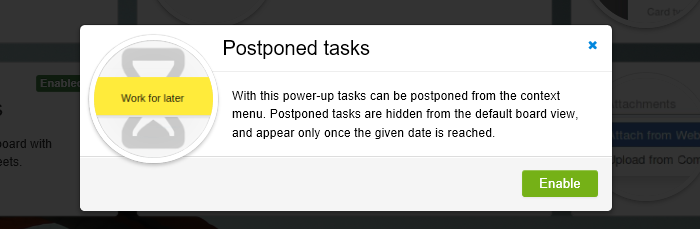 Postponed Tasks Power Up Switch