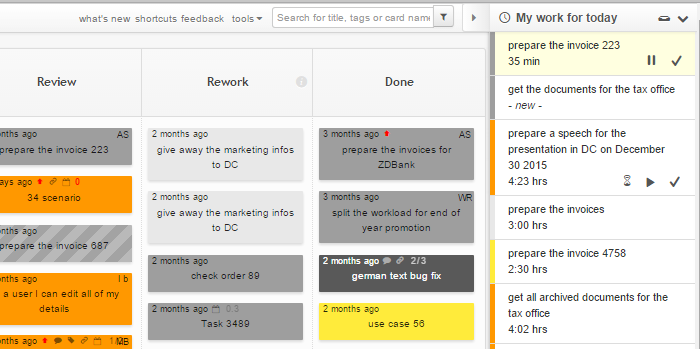My Work for Today Task Queue View