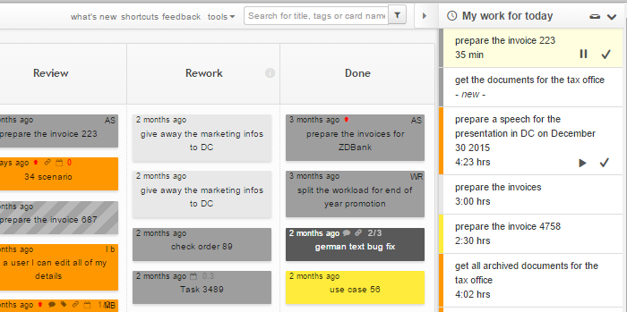 My Work for Today the Task Queue View