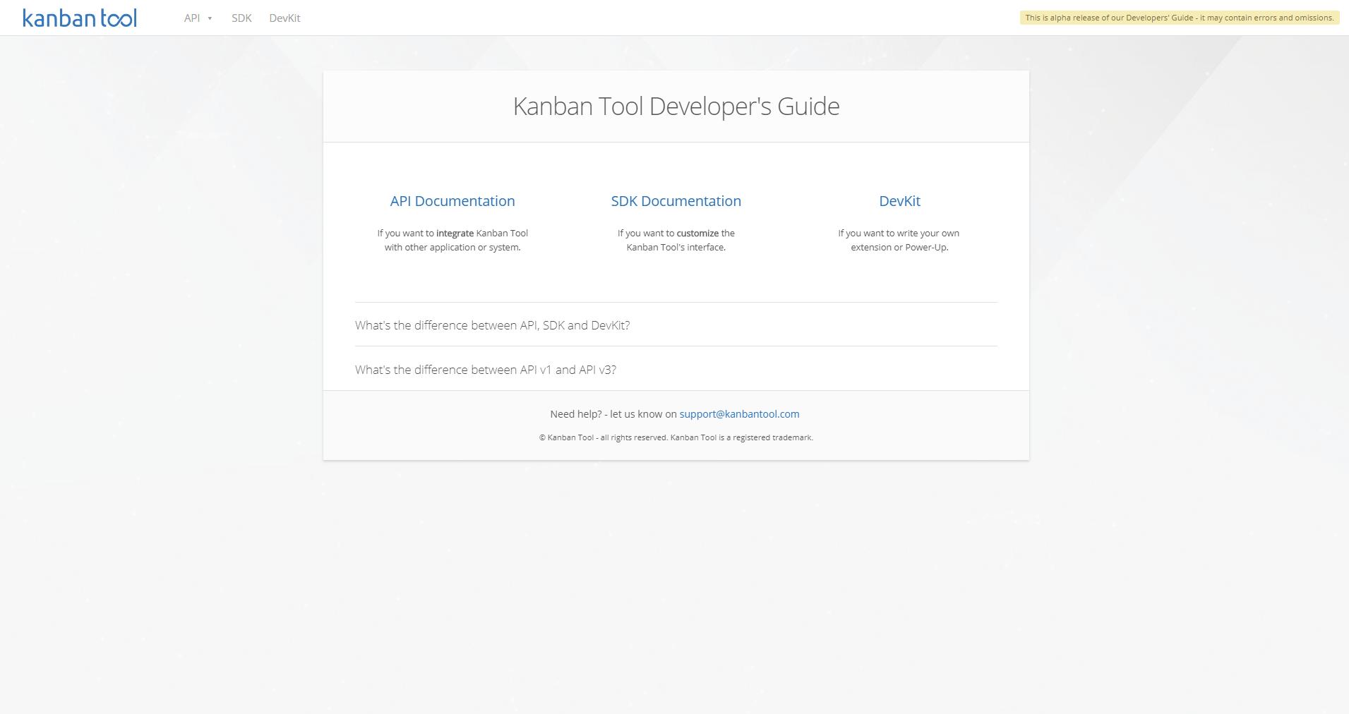 Kanban Tool Developer's Guide