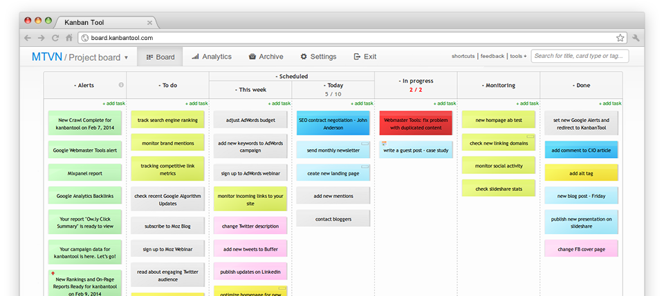 black friday cyber monday kanban