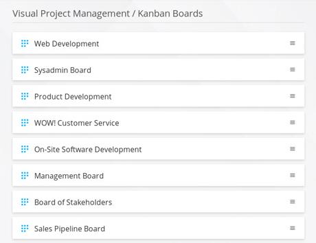 Kanban-Board Ansicht