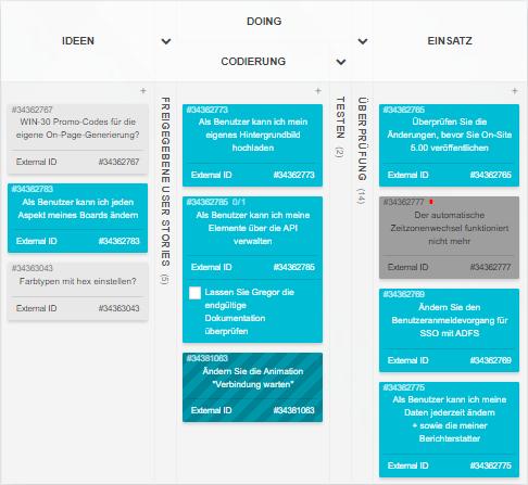 Software-Entwicklung Kanban-Board