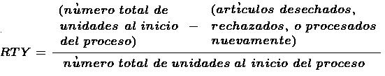 Indice de Producción sin Defectos