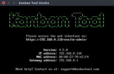 Kanban Tool On-Site Application
