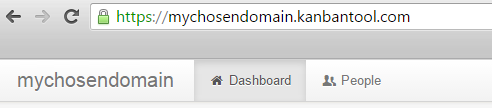 Choose a Domain Name in Kanban Tool