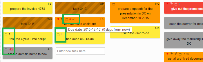 Due Dates Visible on Closed Cards