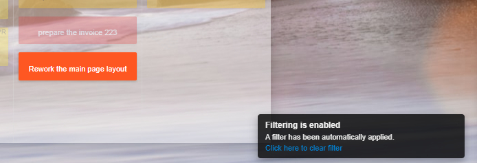 Filtering Enabled Notification