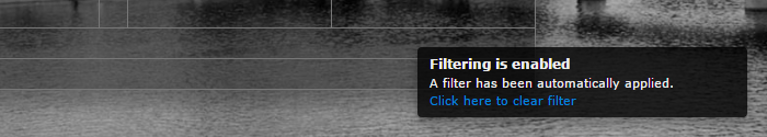 Filtering notice