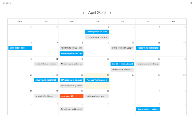 How to enable a calendar view on a Kanban board?