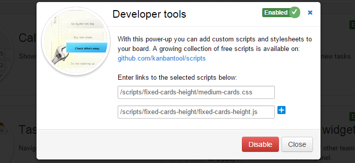 Developer Tools Fixed Card Height