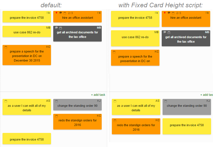 Fixed Card Height Script