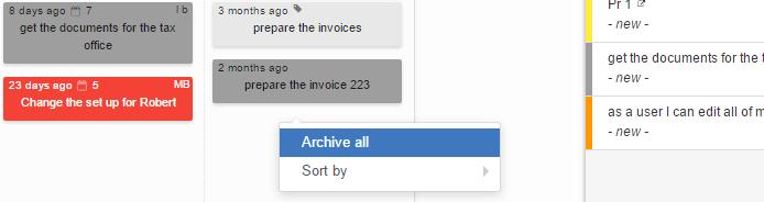Archive all tasks on Kanban board
