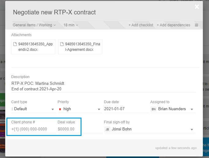 Custom data format placeholders