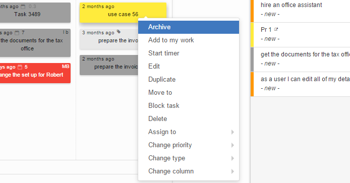 How to Archive Task on Kanban Board