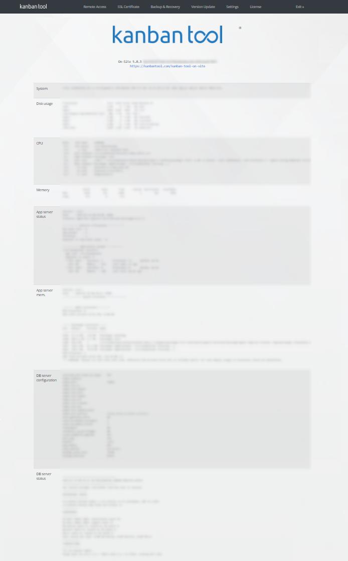 Kanban Tool On-Site - Admin Panel