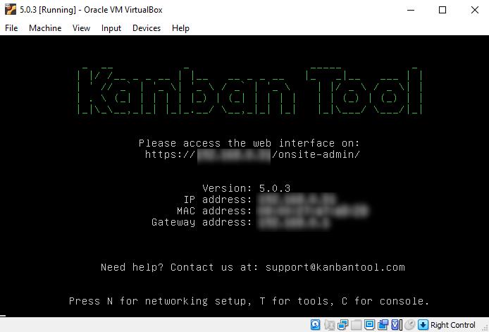 Kanban Tool On-Site Terminal