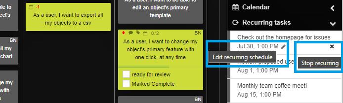 Edit - stop the schedule