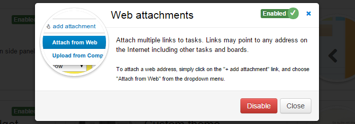 Enable Web Attachments