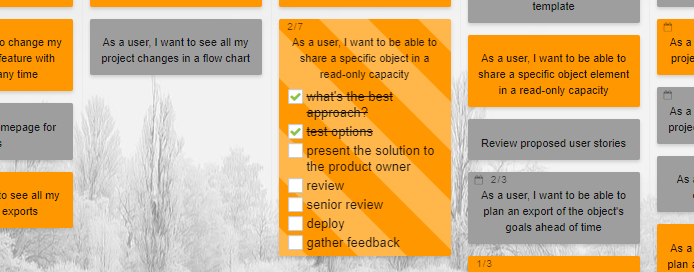 Large Interactive Checklists